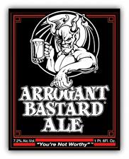 Arrogant Bastard Ale American Beer Drink Car Bumper Sticker - 3'', 5'' or 6''
