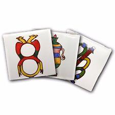 Mattonella Piastrella 10x10cm Ceramica Vietri 100% FATTE MANO  Carte Da Gioco
