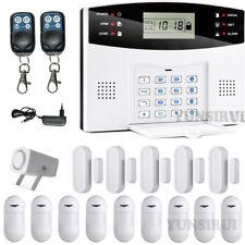 LCD Hausalarm GSM SMS Funk Alarmsystem IR Bewegungsmelder Telefon Sicherheit Set