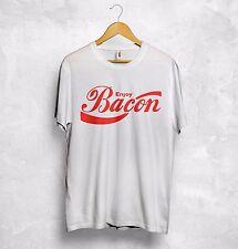 Disfrute de tocino T SHIRT Top Cool Coca Cola Con Logotipo Texto Regalo Divertido Fiesta de cocción de alimentos