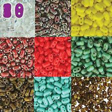 BI-BO Hour Glass Czech Glass 2 hole Seed Beads 5.5mm x 2.8mm 22g More U-Pick