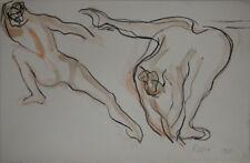 """""""Les danseuses à la barre 2"""" Peinture signée Isa PIZZONI"""