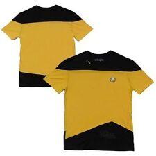 Star Trek Tng The Next Generation Yellow Kirk Uniform Mens Costume Shirt S-3Xl