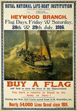 WA20 vintage première guerre mondiale embarcations acheter un drapeau britannique collecte de fonds de la guerre Poster A1 A2 A3