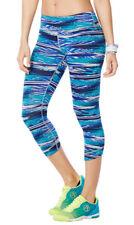 Authentic New Zumba Treaded Capri Leggings Pants ~ Bangin Blue 2XL MSRP $37