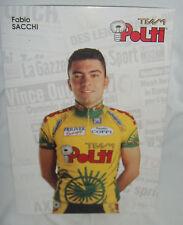 FABIO SACCHI TEAM POLTI CARD ITALY VERY RARE