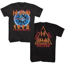 04278e46 Def Leppard Adrenalize World Tour 1992 Men's T Shirt Get Rocked Band Album  Merch