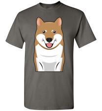 Shiba Inu Dog Cartoon T-Shirt Tee - Men Women Ladies Youth Kids Tank Long Sleeve