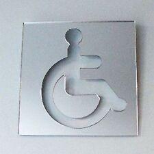Eckig Behinderten Wc-türschild