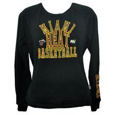 NBA Unk Miami Heat Distressed Rhinestone Women Ladies Long Sleeve Sweater