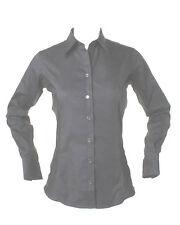 Kustom Kit Ladies NAVY BLUE Long Sleeve Oxford Shirt Office/Casual/Work KK702