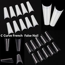 Decor Artificial Acrylic Gel Nail Nail Art Tips C Curve False Nails Half Cover