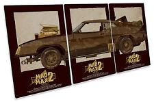 Mad Max 2 V8 Interceptor Car Film TREBLE CANVAS WALL ART Picture Print
