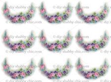 Muebles para el hogar Calcomanía de transferencia de imagen Vintage Rose Flor Floral Rosas Shabby Chic