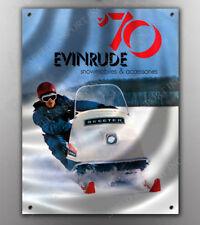 VINTAGE EVINRUDE 1970 SKEETER SNOWMOBILE BANNER