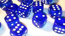 50 x grandes six faces translucides dés 19mm Casino Craps
