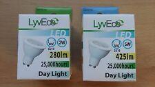 3w 5w 7w LED Lámpara Bombilla GU10 2 4 10 bombillas de luz del día 25w 35w 50w Gran valor!
