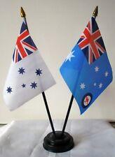 AUSTRALIA NAVY & RAAF ENSIGN FLAGS TABLE FLAG SET OF 2 AUSTRALIAN AIR FORCE