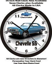 1967 CHEVROLET CHEVELLE SS WALL CLOCK-FREE USA SHIP
