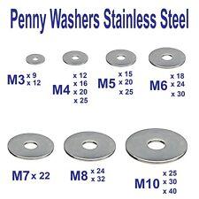 """5 mm - 3//16/"""" ACIER INOXYDABLE A2 Réparation Rondelles Penny Rondelle x 25 mm M5 1/"""""""