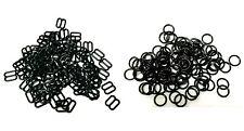 Sujetador Ajustador Deslizadores Plásticos Negros & Anillos, ajustadores de Lencería figura 8+0