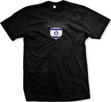 Israel Flag Crest Jewish Star of David National Soccer Pride Mens T-shirt
