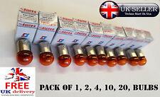 12v 10w ry-10 bau15s LUCE AMBRA MOTO INDICATORE TURN LAMPADINE RING sap-2028