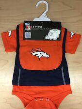 NFL Denver Broncos INFANT 3-piece Set - Bodysuit, Bib, Booties