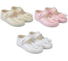 BabyPrem Baby Boys Patent BayPods Pram Shoes White Black Wedding Christening