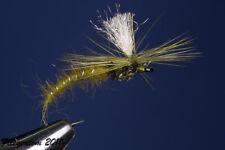 Fliegentom mouche sèche 3 piéces - Klinkhammer olive (Klinkhamar)