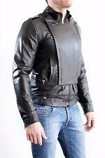 ★Giacca Giubbotto Uomo in di PELLE 100% Men Leather Jacket Veste Homme Cuir e1ad