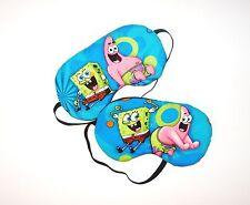 Set of 2 - Sleep Masks - Spongebob and Patrick - Comes As Shown -  NEW