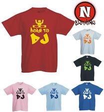 né jusqu'à DJ enfants Dubstep DANSE Urbain hip hop musique T-shirt 3 ans - 13