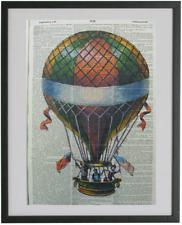 Hot Air Balloon Print No.321, dictionary prints