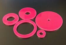 M4 in Nylon Rondelle di plastica trasparente 4 mm ID 9 mm od 1 mm SPESSORE