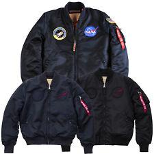 Alpha Industries Herren Winterjacke Jacke MA-1 VF NASA Winter Jacket Bomberjacke