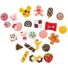 25 pcs Mixed Dessert Sweets Food Candy Flatback Resins Kawaii Cabochons Decoden