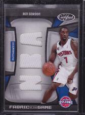 2009-10 Certified Fabric of the Game NBA Die Cuts #111 Ben Gordon 30/50