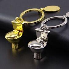 Funny Fashion Creative Mini Toilet Metal Key Chain Pendant Activity Gift Chain