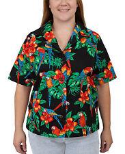 Benny's Womens Parrots Hawaiian Shirt