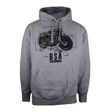 BSA - Motorbike - Chalk - Mens - Hoodie - Grey - Size S,M,L,XL,XXL