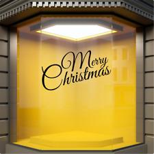 MERRY CHRISTMAS Shop Window Xmas Sticker Display Festive Decoration Vinyl Decal