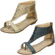Girls Spot On Toepost Studded Gladiator 'Sandal'