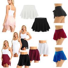 Women Adult Chiffon Short Skirt Active Gym Ballet Dance Mini Pleated Tutu Dress
