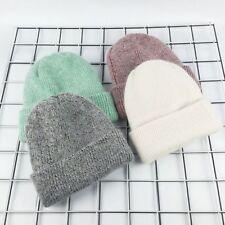 Winter Hat Women Rabbit Cashmere Knit Beanie Thick Warm Vogue Ladies Wool Female