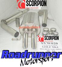 Scorpion Golf MK4 2.0 de escape cola de gato de nuevo sistema atractivo discretos SVW020