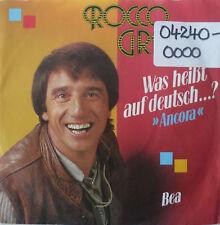 """7"""" 1984 ! ROCCO GRANATA Was heißt auf Deutsch Ancora M-"""