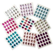 20pcs TearDrop Self Adhesive Stick on Crystal Gems Rhinestone Embellishments