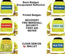 Insignias Reflectante Trasero diapositiva o cose en primeros auxilios de seguridad de recuperación 237 X 110 mm