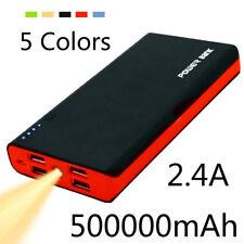 Huge Capacity 500000mAh Portable Power Bank 4 USB LED External Battery Charger